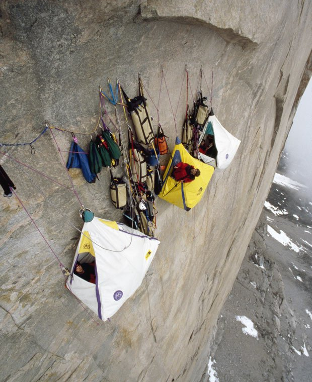 Rock climbing and EXTREME camping