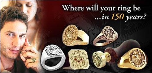 HistoricalNames.com | Family Crest Rings for Men | Coat of Arms Rings