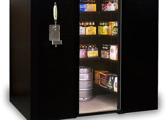 Brew Cave Walk-In Beer Cooler and Kegerator