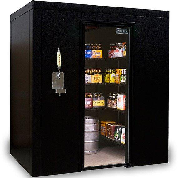 Brew Cave Walk-In Beer Cooler and Kegerator