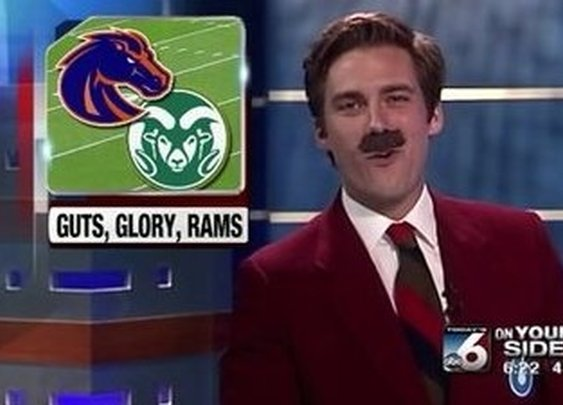 Idaho Sportscaster Channels Ron Burgundy, Drops 'Anchorman' Quotes Throughout Halloween Newscast (Video) | Daily Blend | NESN.com