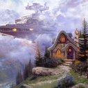 Thomas Kinkade Paintings Get Upgraded With Star Wars | Geekologie