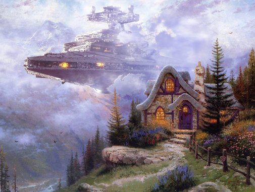 Thomas Kinkade Paintings Get Upgraded With Star Wars | Geekologie