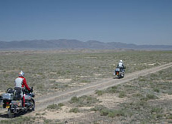 Official website documenting Ewan McGregor and Charley Boorman's epic Long Way Round overland journey via Asia on BMW motorbikes