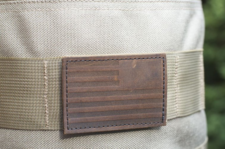 GORUCK | Built in the USA. Leather Reverse Flag Patch