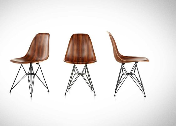 Eames Molded Wood Chair: 3-D Seating!