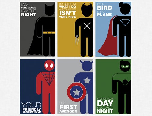 Michelle Samuel's Minimalist Superheroes | The Coolector