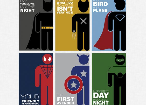 Michelle Samuel's Minimalist Superheroes | The Coolector