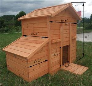 Deluxe wood Chicken Coop poultry Hen House and Nesting Box