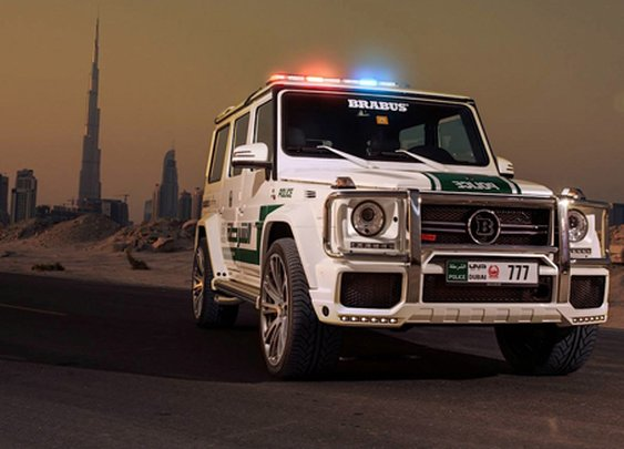 Dubai Adds Mercedes G63 AMG Brabus to Police Force