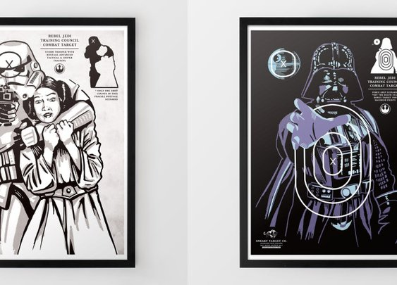 Star Wars Target Shooting Range Prints: Han Shot First, You Shoot Better
