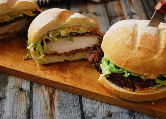 Buttermilk Fried Chicken Sandwich with Chipotle Aioli