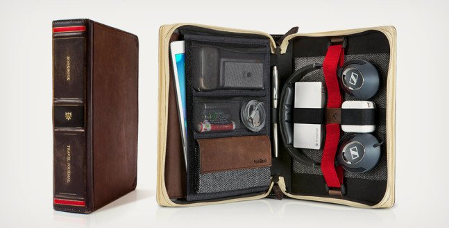 Travel Journal Leather Bound Case   Cool Material