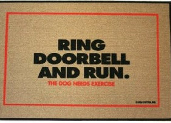 Ring Doorbell & Run Doormat