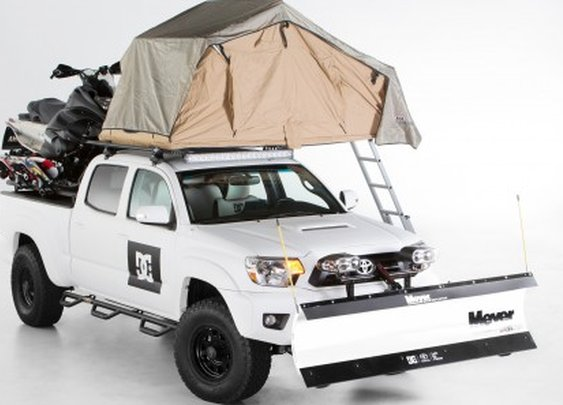 Toyota and DC Shoes create Tacoma plow truck camper