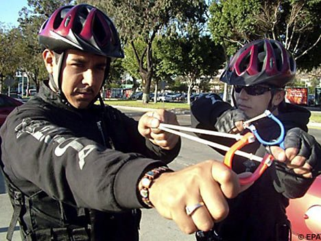 That time the Tijuana police had slingshots instead of guns