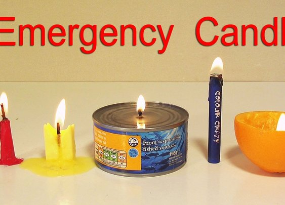 How to Make 5 Emergency Candles - Life Hacks - YouTube