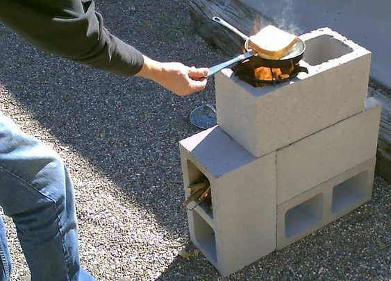 "The ""4 Block"" Rocket Stove! - DIY Rocket Stove - (Concrete/Cinder Block Rocket Stove) - Simple DIY - YouTube"