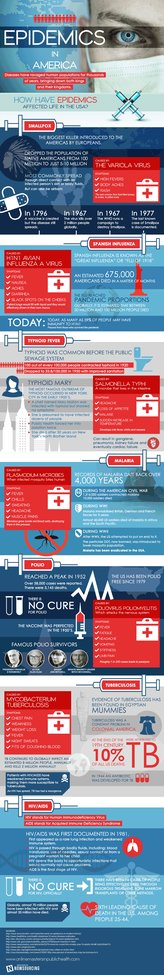 Epidemics of America {infographic}