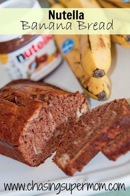 Nutella Banana Bread | Chasing Supermom