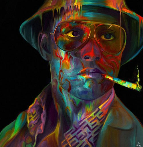 Hunter S Thompson in his reality