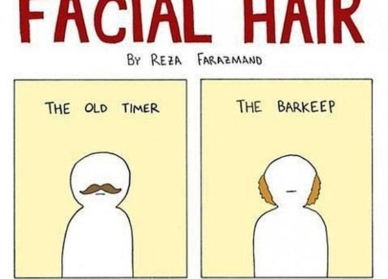 """The illustrated guide to facial hair"" [Image] 