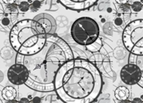Time Is A Man Made Concept Wallpaper - poetryqn - Spoonflower