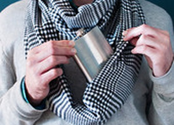 Prohibition scarves - hidden pocket in your scarf!