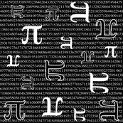 Pi are Square (Dark) Wallpaper - robyriker - Spoonflower