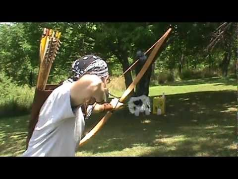 Traditional archery Shooting the Recurve Bow - YouTube