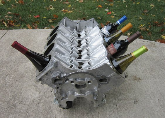 V8 Engine Block Wine Rack Man Cave Decor 62 Buick 215 Motor Cool | eBay