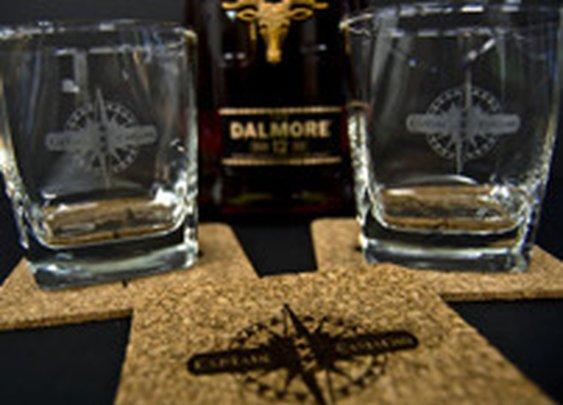 Custom whiskey glass & coaster on Behance