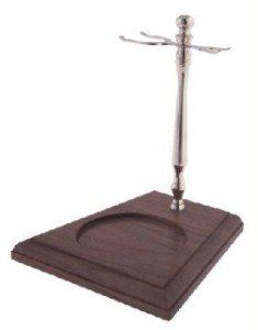 Col. Conk Chrome & Wood Stand