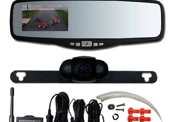 Peak PKC0RG Small Rearview Mirror with 3.5-Inch Backup Camera Review  | Audithat