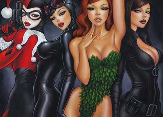 The Bad Girls of Batman Print