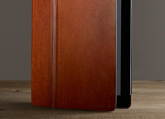 ARTISAN LEATHER HARD SHELL IPAD® COVER CHESTNUT