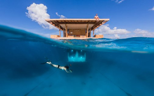 the manta resort underwater hotel room opens in africa