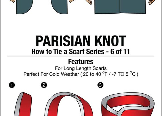 11 Ways To Tie A Scarf Infographic – A Man's Guide To Tying Scarfs Chart