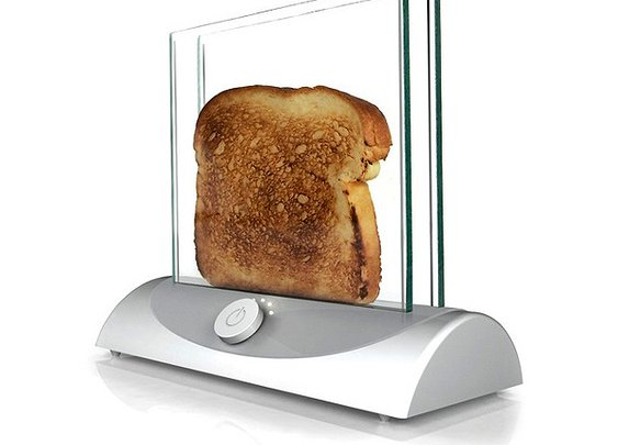 See Your Toast Toast: Transparent Toaster