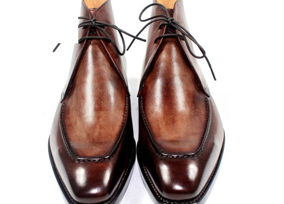 Custom hand-painted dark brown patina