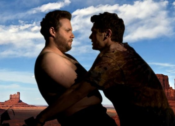 James Franco and Seth Rogen's Hilarious Parody of Kanye West's Music Video For 'Bound 2'