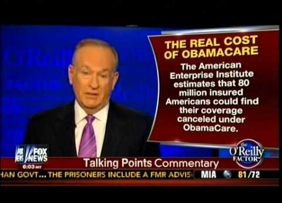 Unhappy America! - The Real Cost Of Obamacare! - O'Reilly Talking Point - YouTube