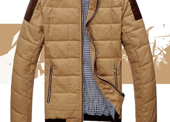 Men's Two Tone Ultra Soft Jacket with PU Leather Trimmed
