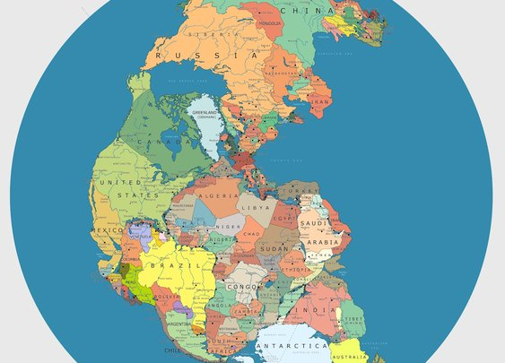 What Pangaea Would Look Like With Today's Political Boundaries [Infographic] | Popular Science