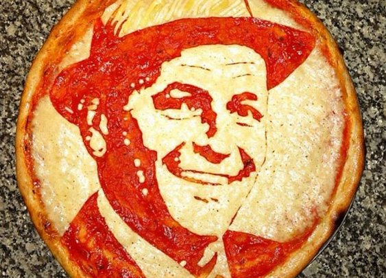 Pizza Art – Portraits on Pizza