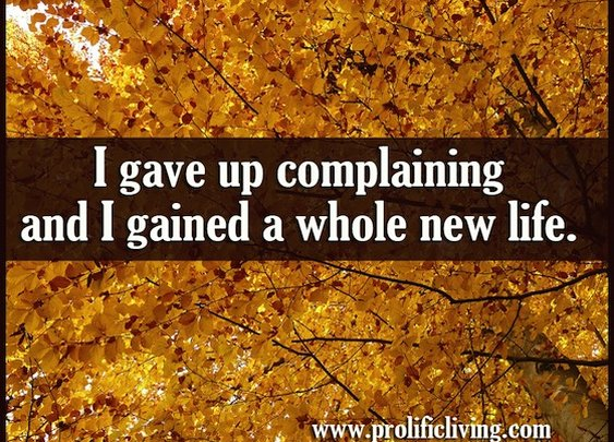 Lessons from Complaint-Free | No complaining