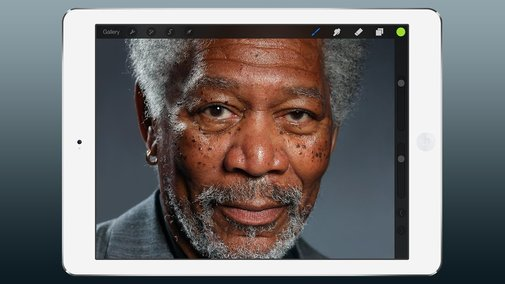 iPad Painting of Morgan Freeman (not a photograph)