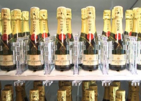 Cheers: The World's Only Champagne Vending Machine - Video