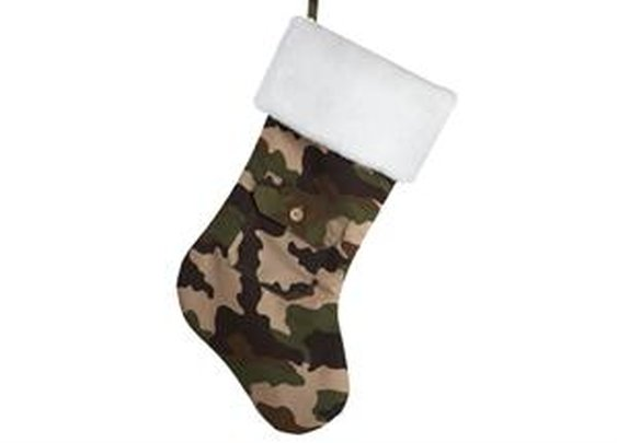 "18.5"" Army Camouflage Christmas Stocking with Pocket and White Faux Fur Cuff - Newegg.com"