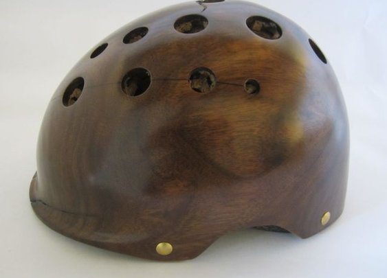 Custom Wood Helmets